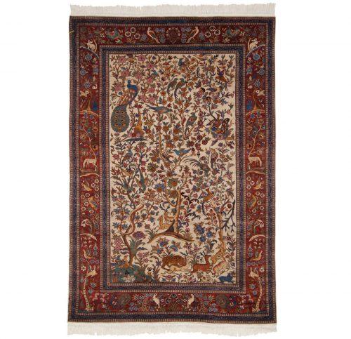 4×6 Persian Ivory Oriental Rug 021459