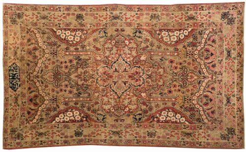 4×6 Persian Kerman Gold Oriental Rug 043576