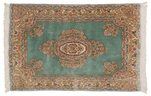 4×6 Persian Kerman Green Oriental Rug 012281