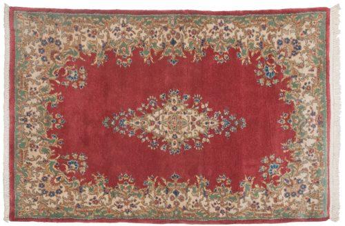 4×6 Persian Kerman Rose Oriental Rug 012208