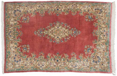 4×6 Persian Kerman Rose Oriental Rug 012209