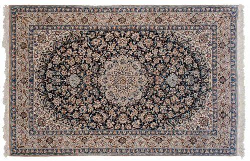 4×6 Persian Nain Blue Oriental Rug 040254