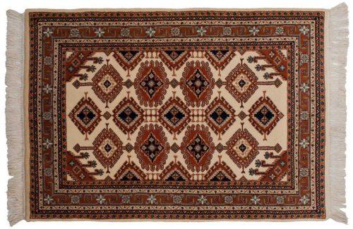 4×6 Salore Ivory Oriental Rug 014774