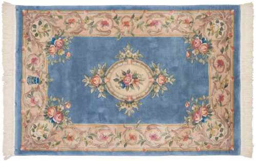 4×6 Savonnerie Blue Oriental Rug 029673