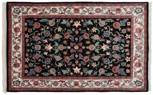 4×6 Tabriz Black Oriental Rug 027803