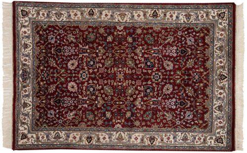 4×6 Tabriz Burgundy Oriental Rug 016234