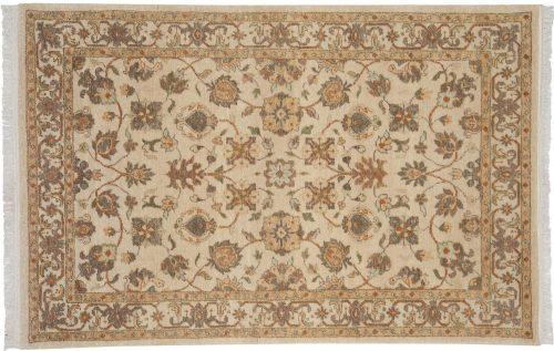 4×6 Tabriz Ivory Oriental Rug 039278