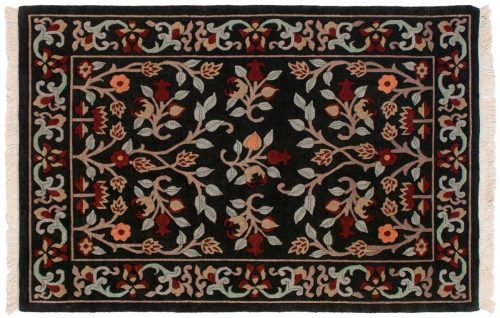 4×6 Tibetan Black Oriental Rug 036269