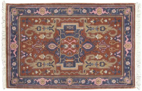4×6 Oushak Rust Oriental Rug 036165
