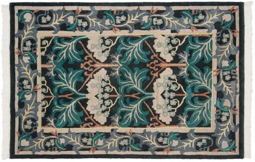 4×6 Voysey Black Oriental Rug 036419