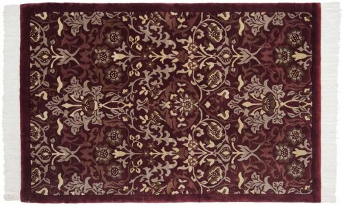 4×6 William Morris Burgundy Oriental Rug 036532