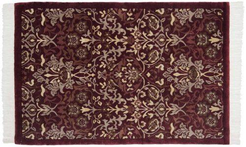 4×6 William Morris Burgundy Oriental Rug 036532