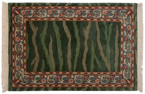 4×6 William Morris Green Oriental Rug 031335