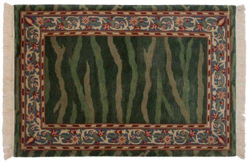4×6 William Morris Green Oriental Rug 031335