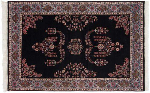 4×7 Caucasian Black Oriental Rug 036754