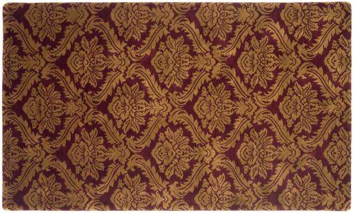 4×7 Damask Burgundy Oriental Rug 036916