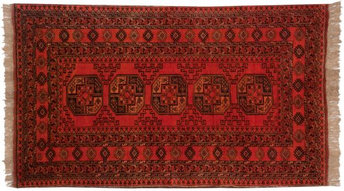 4×7 Daulatabad Red Oriental Rug 011585