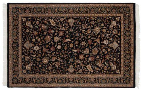 4×7 Isfahan Black Oriental Rug 039079