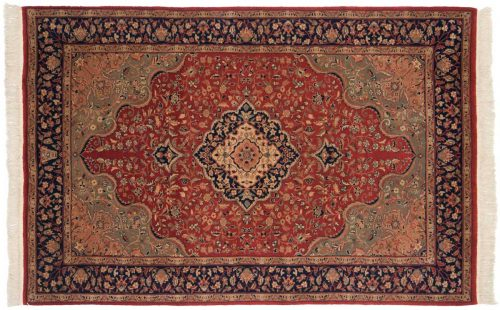 4×7 Isfahan Red Oriental Rug 019934