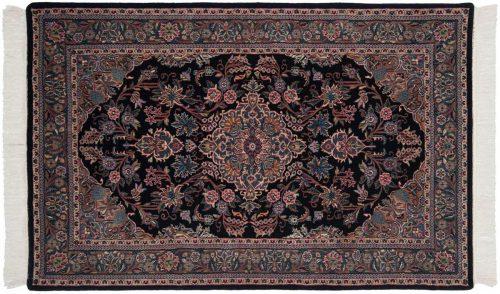 4×7 Kashan Black Oriental Rug 031377