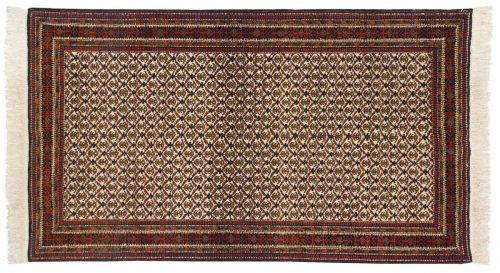 4×7 Persian Ardebil Ivory Oriental Rug 035582