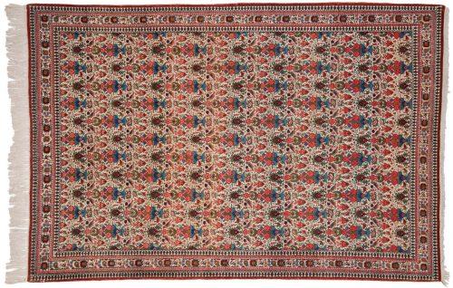 4×7 Persian Ghoum Ivory Oriental Rug 011278