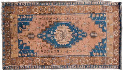 4×7 Persian Mossoul Peach Oriental Rug 013610