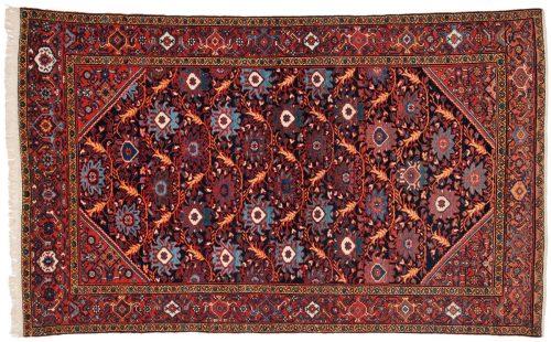 4×7 Persian Senna Blue Oriental Rug 011231