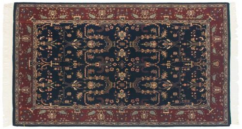4×7 Sarouk Blue Oriental Rug 045954