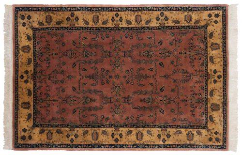 4×7 Sarouk Rose Oriental Rug 030690