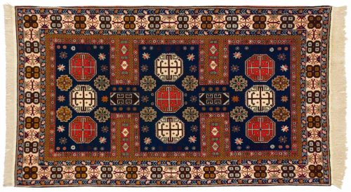 4×7 Shirvan Blue Oriental Rug 028300