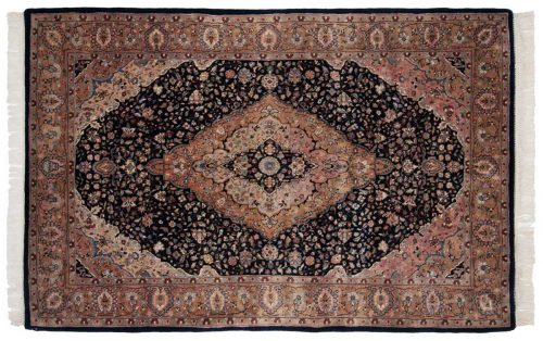 4×7 Kashan Blue Oriental Rug 016967