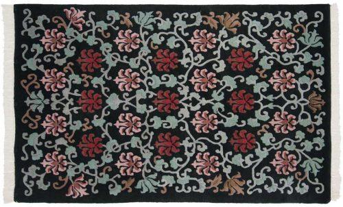 4×7 Tibetan Black Oriental Rug 036214