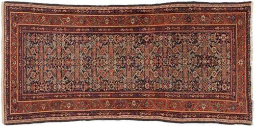 4×8 Persian Feraghan Blue Oriental Rug Runner 013531