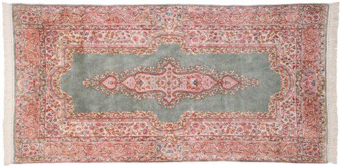 4×8 Persian Kerman Green Oriental Rug 017356