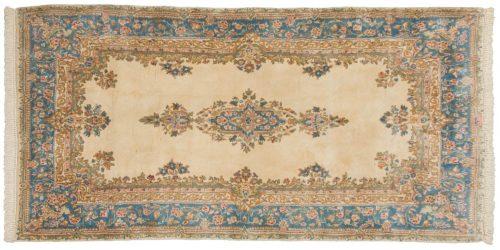 4×8 Persian Kerman Ivory Oriental Rug 012203