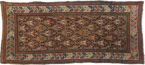 4×9 Kazak Brown Oriental Rug 011350