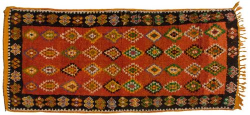 4×9 Moroccan Rust Oriental Rug 013574