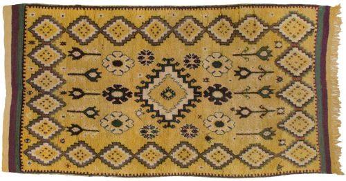 5×10 Moroccan Gold Oriental Rug Runner 013568