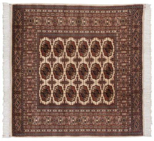 5×5 Bokhara Ivory Oriental Square Rug 022130