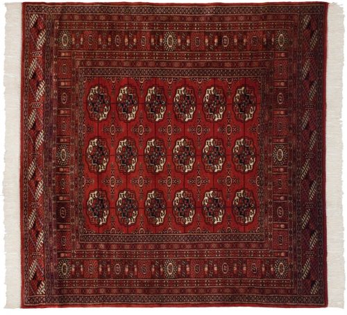 5×5 Bokhara Red Oriental Square Rug 021916