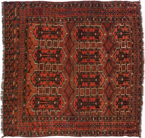 5×5 Bokhara Rust Oriental Square Rug 014032