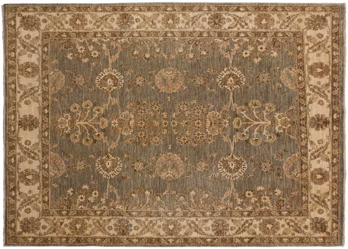 5 5 Chobi Grey Oriental Rug 043818 Carpets By Dilmaghani