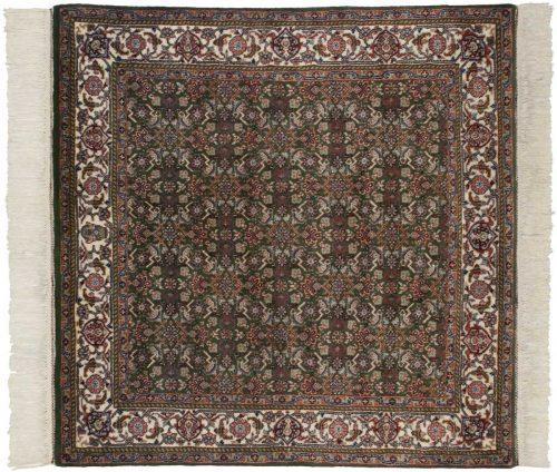 5×5 Tabriz Green Oriental Square Rug 034015