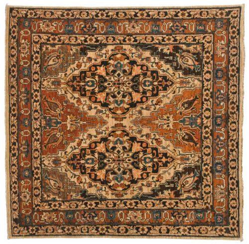 5×5 Tabriz Ivory Oriental Rug 045805
