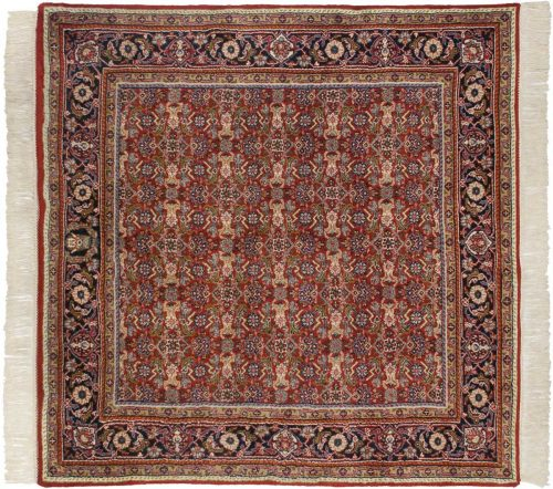 5×5 Tabriz Red Oriental Square Rug 033739
