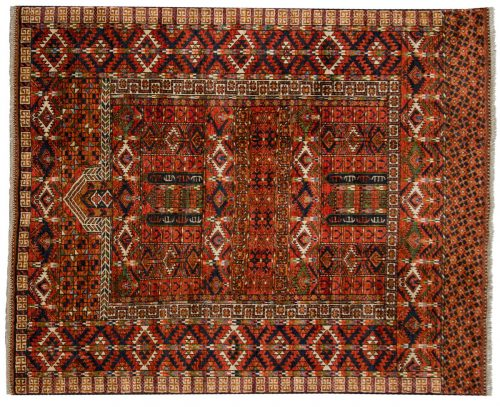 5×6 Ersari Rust Oriental Rug 048877