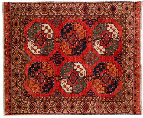 5×6 Ersari Rust Oriental Rug 048880