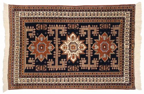 5×6 Persian Ardebil Blue Oriental Rug 035557
