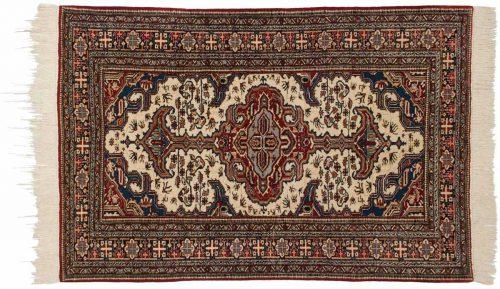 5×6 Persian Ardebil Ivory Oriental Rug 034888